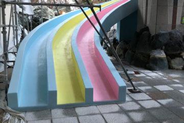 温泉滑り台改修